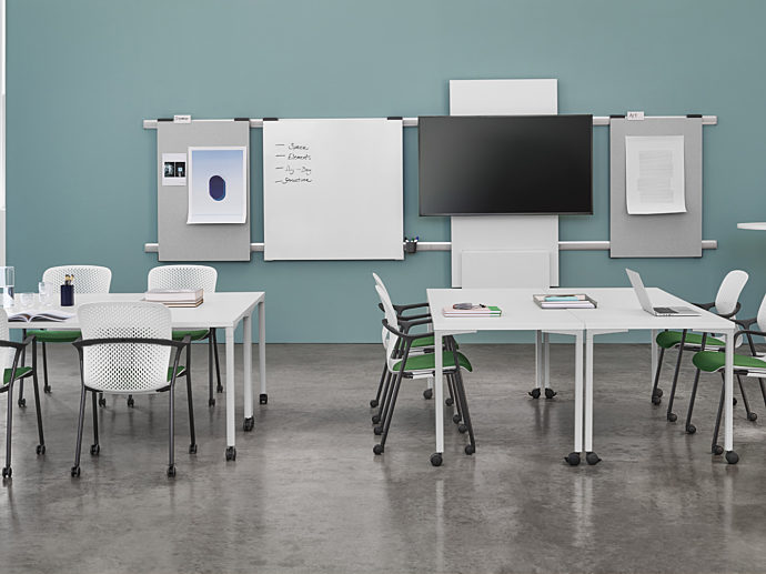 Learning space with education furniture